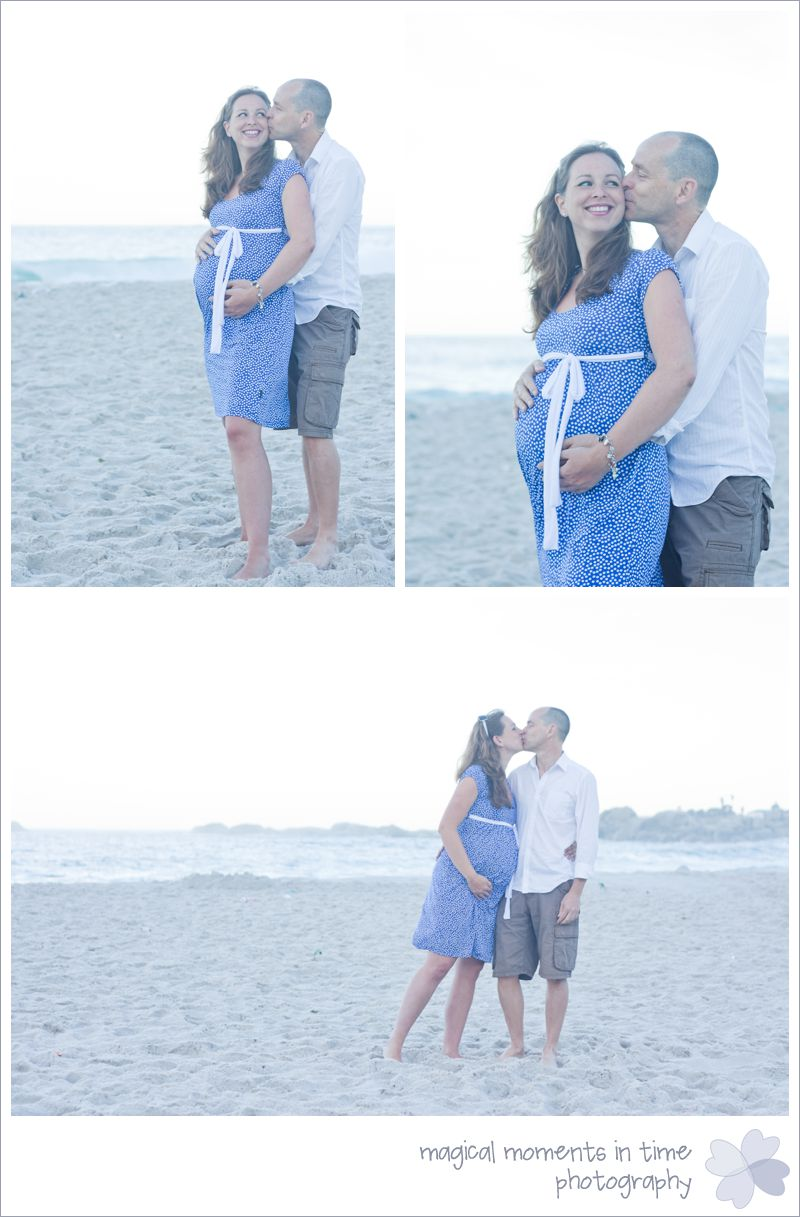 camps bay couple kissing maternity photos
