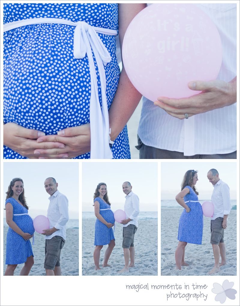 it's a girl balloon maternity photos