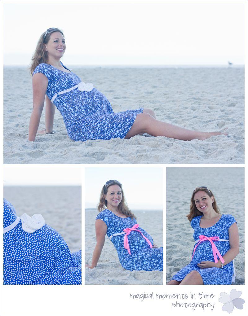 pregnant mom maternity photos on the beach
