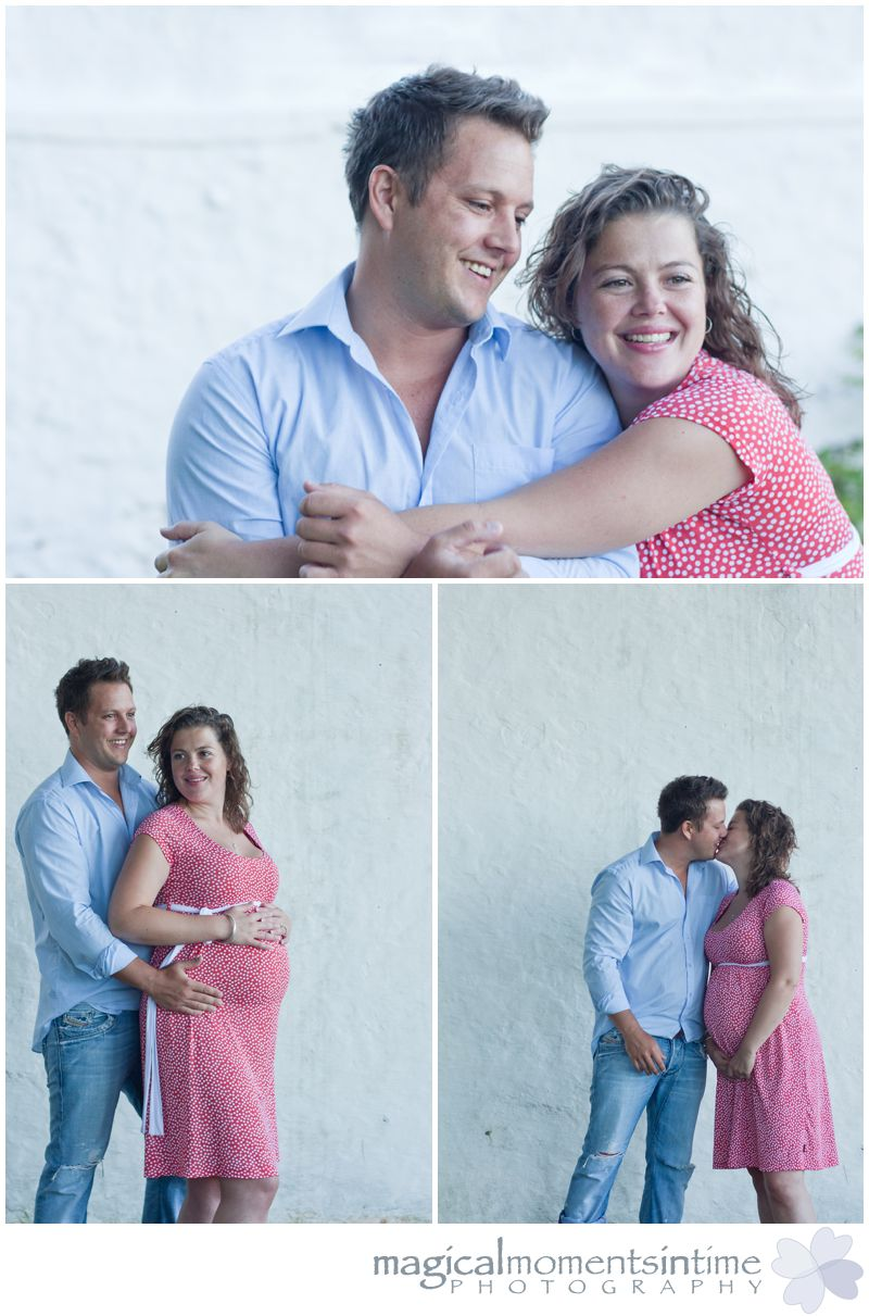 maternity photos cape town couple standing by wall