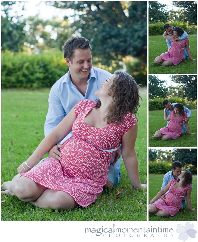 cape town maternity photos couple in park