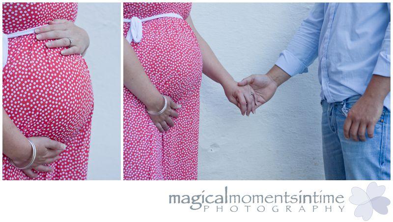 maternity photos at groot constantia cape town close up of bump