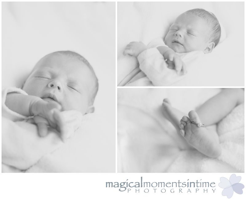 black and white newborn photography cape town closeups of baby and feet