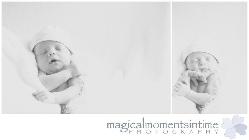 high key black and white newborn photography cape town baby boy asleep