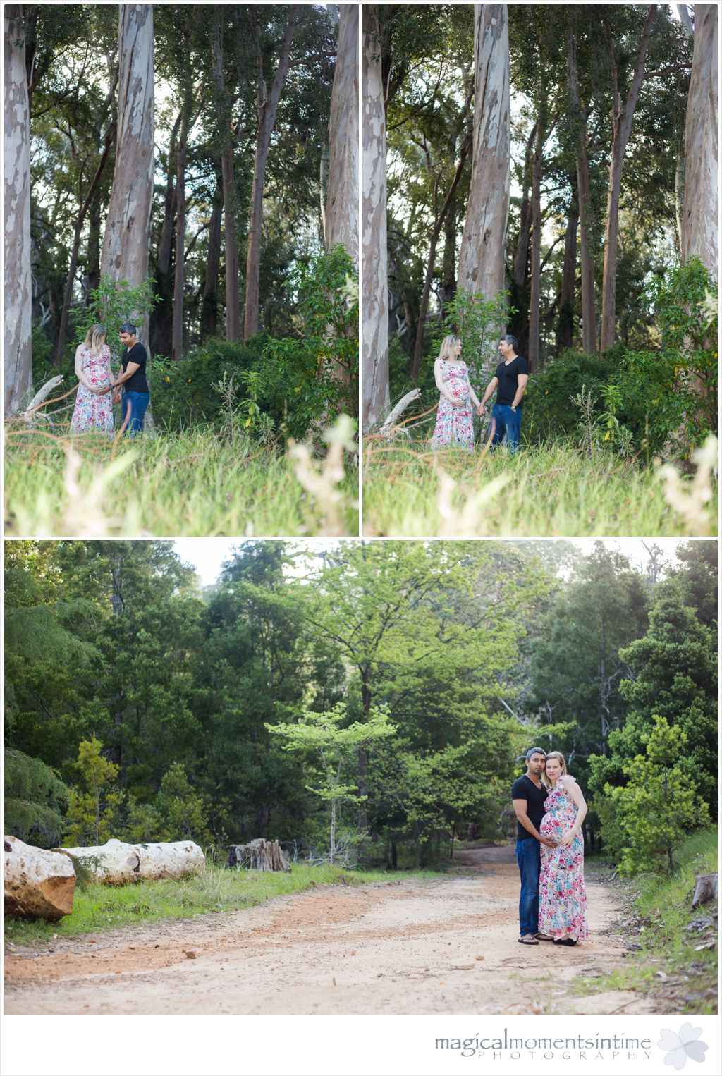 wide angle shots of parents to be in tokai forest cape town