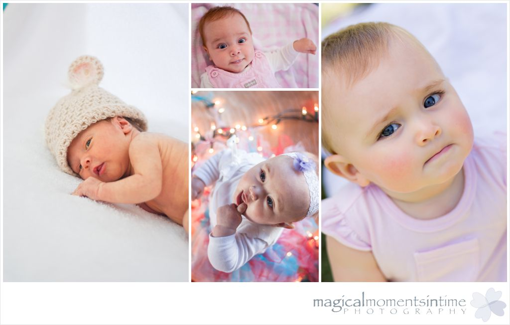 a year in the life of a little girl from newborn to 9 months old