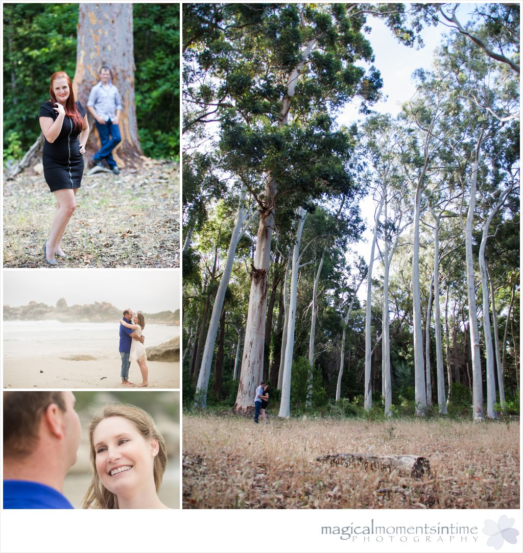 tokai forest couple session among the trees, beach couple session on llundudno beach cape town