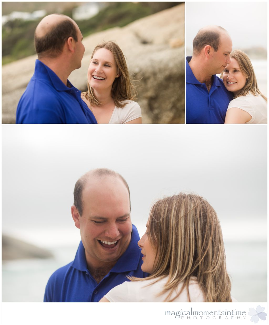 couple on the beach in llududno cape town for photoshoot