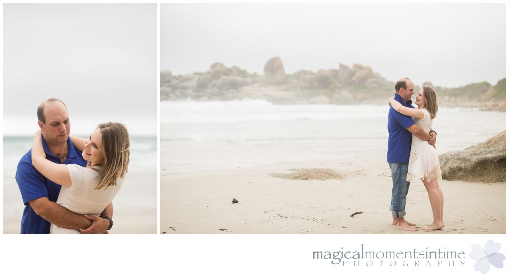 couple shoot on the beach in cape town
