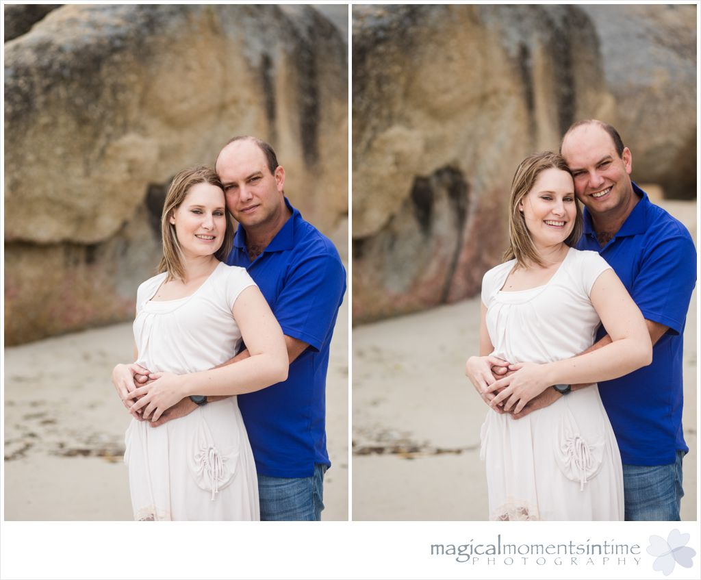 loving couple on llundudno beach