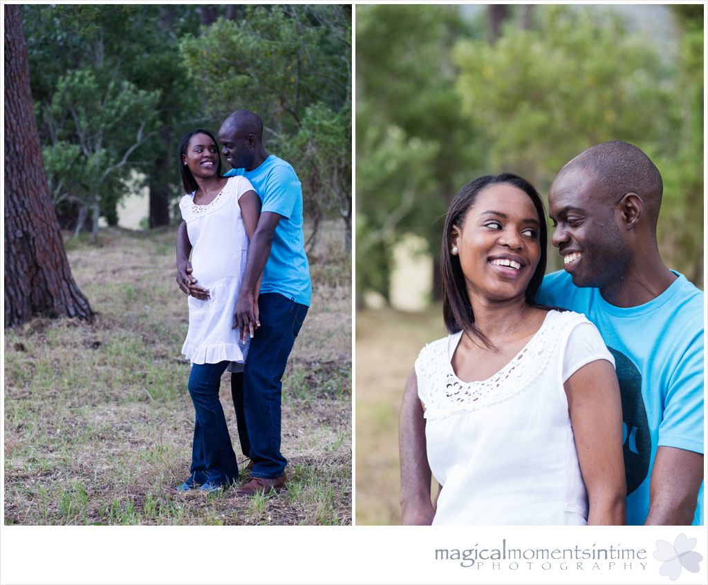 cape town maternity photographs in the forest