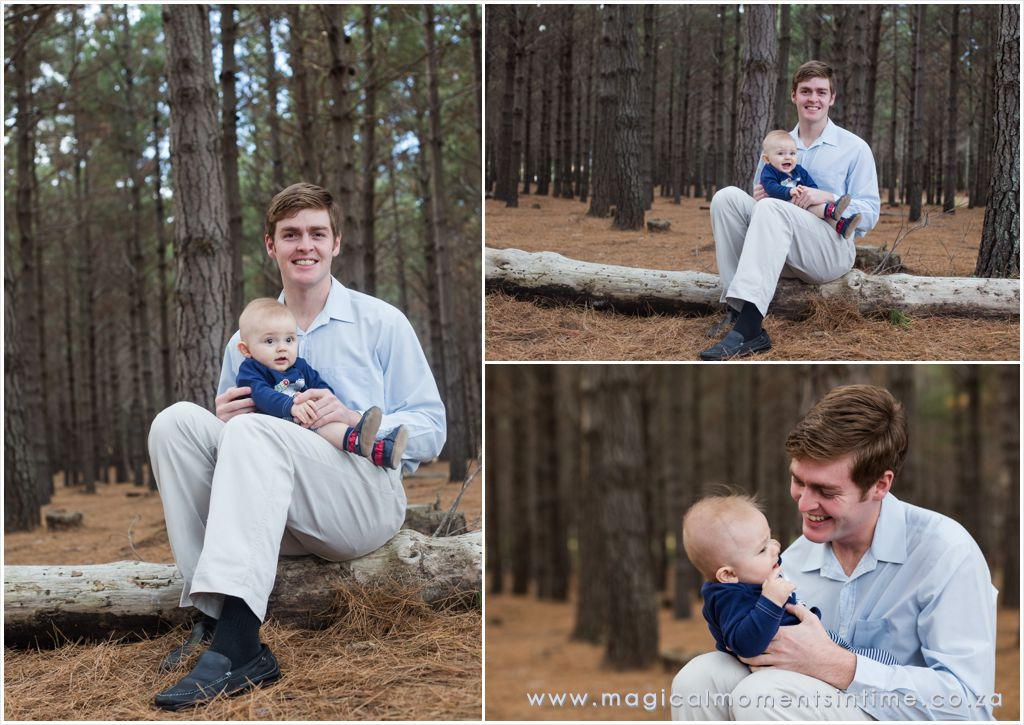 daddy and me portraits in the forest