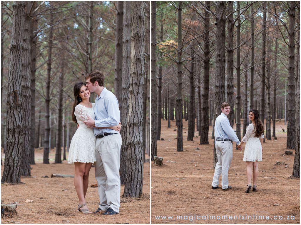 late afternoon engagement shoot in tokai forest