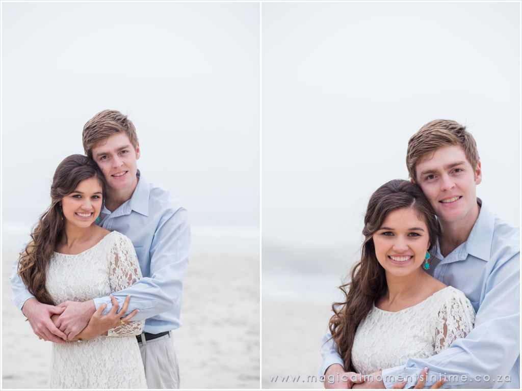 misty cape town beach engagement portrait session