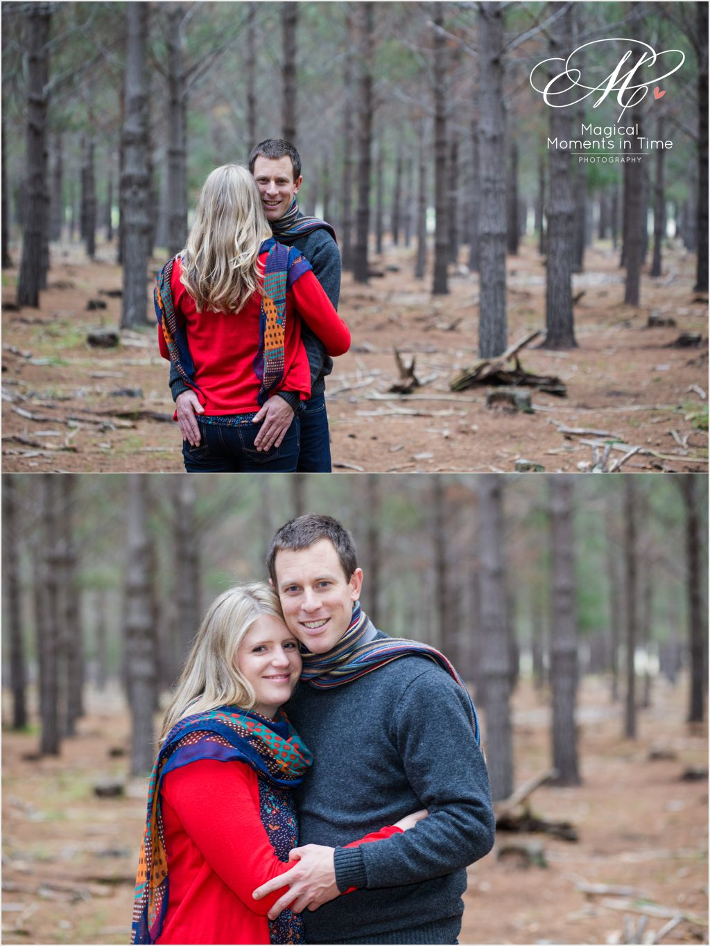 late afternoon forest engagement portraits cape town