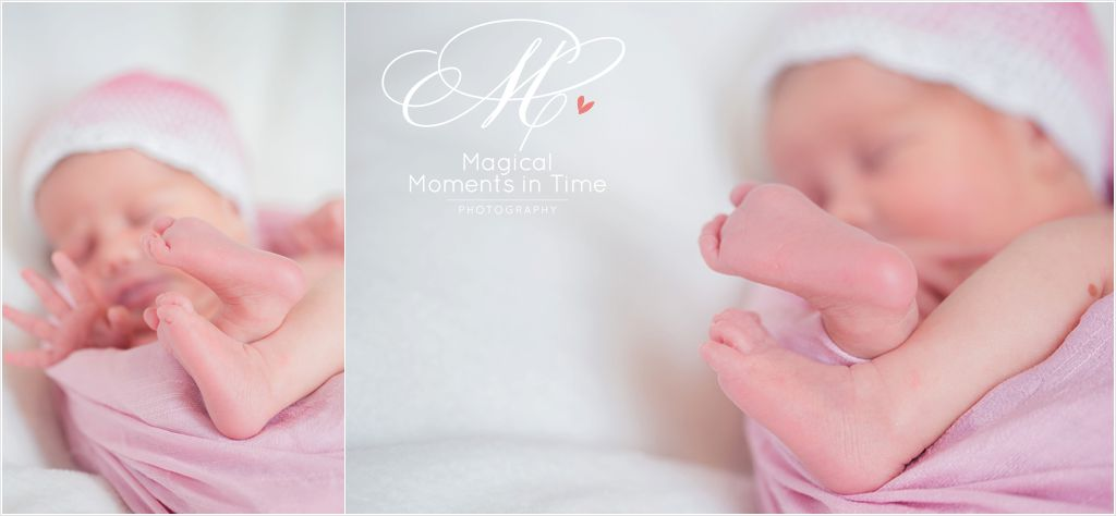 baby girl newborn details toes