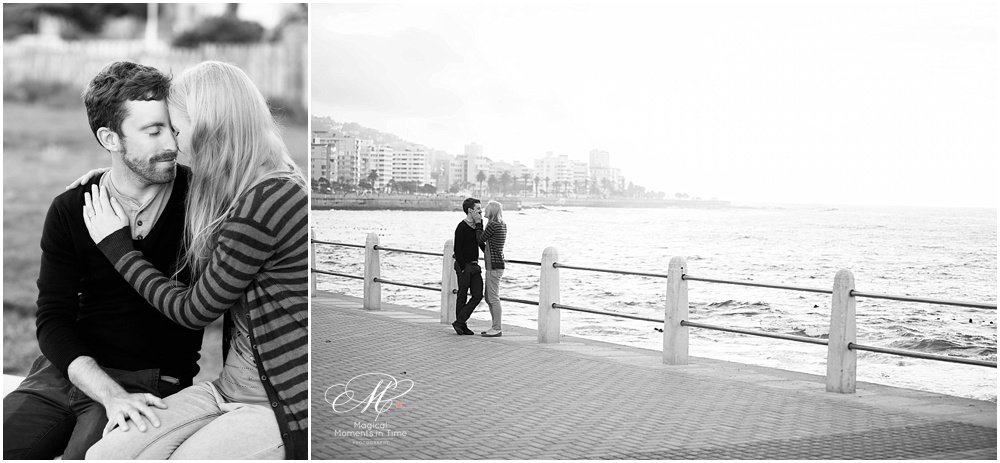 cape town engagement photography black and white promenade couple shoot