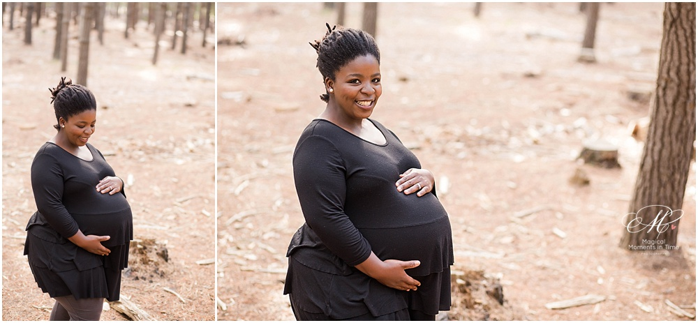 cape town maternity photography tokai forest preggie mommy