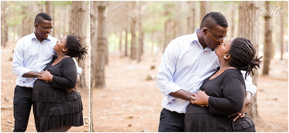 cape town maternity photography tokai forest loving couple during pregancy