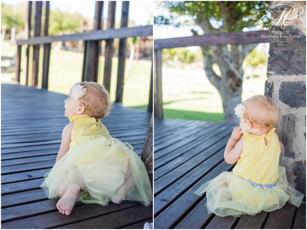 cape town cake smash girl in yellow tutu