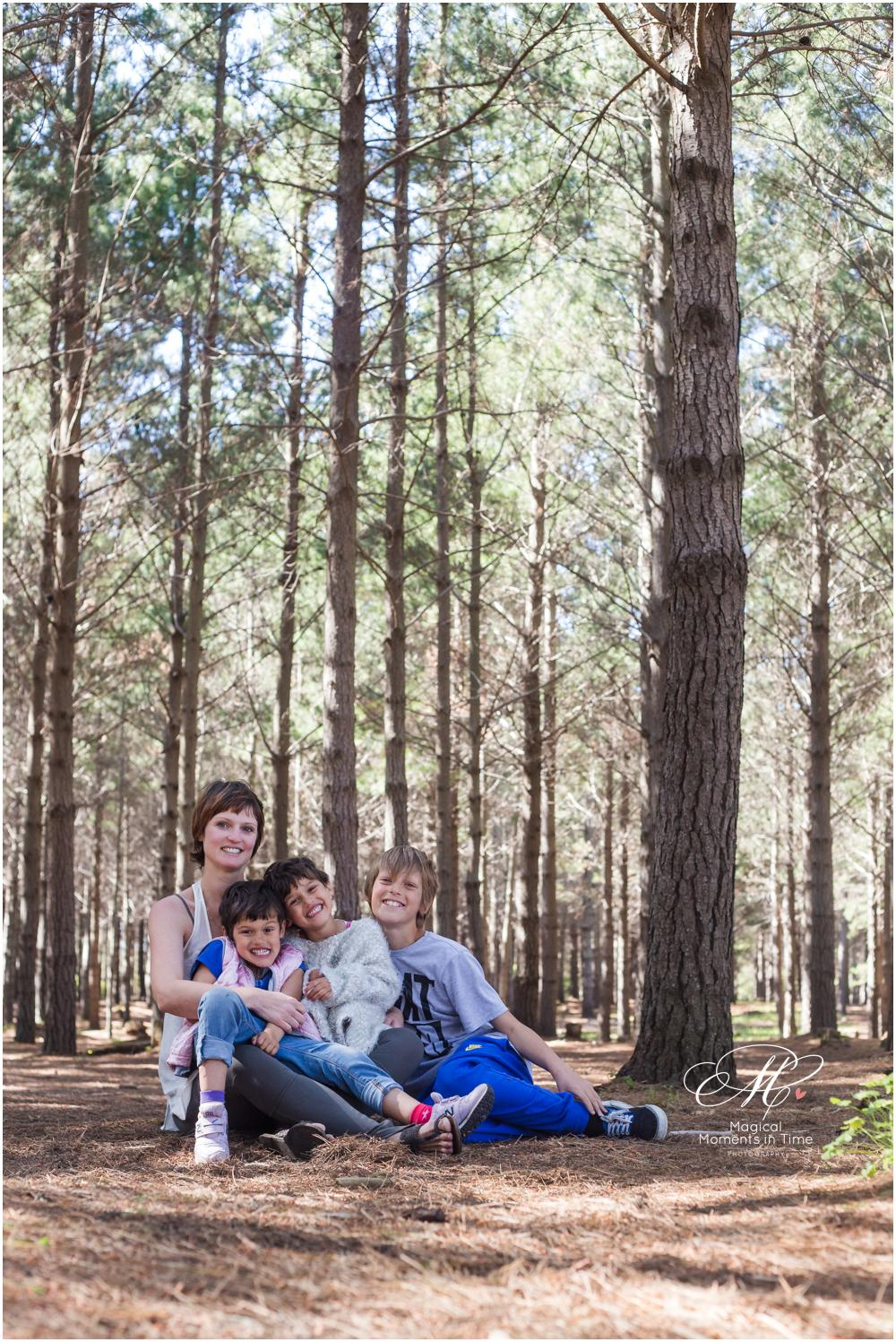wide angle family forest photography cape town