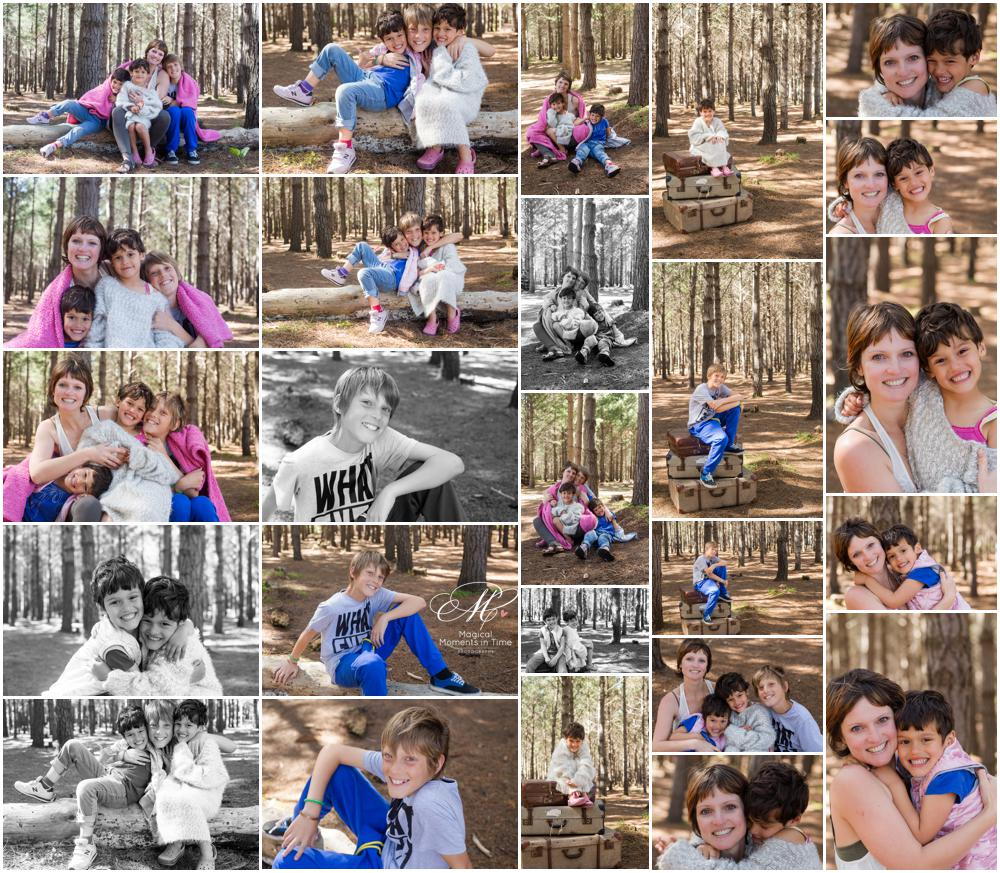 cape town family forest photography collage