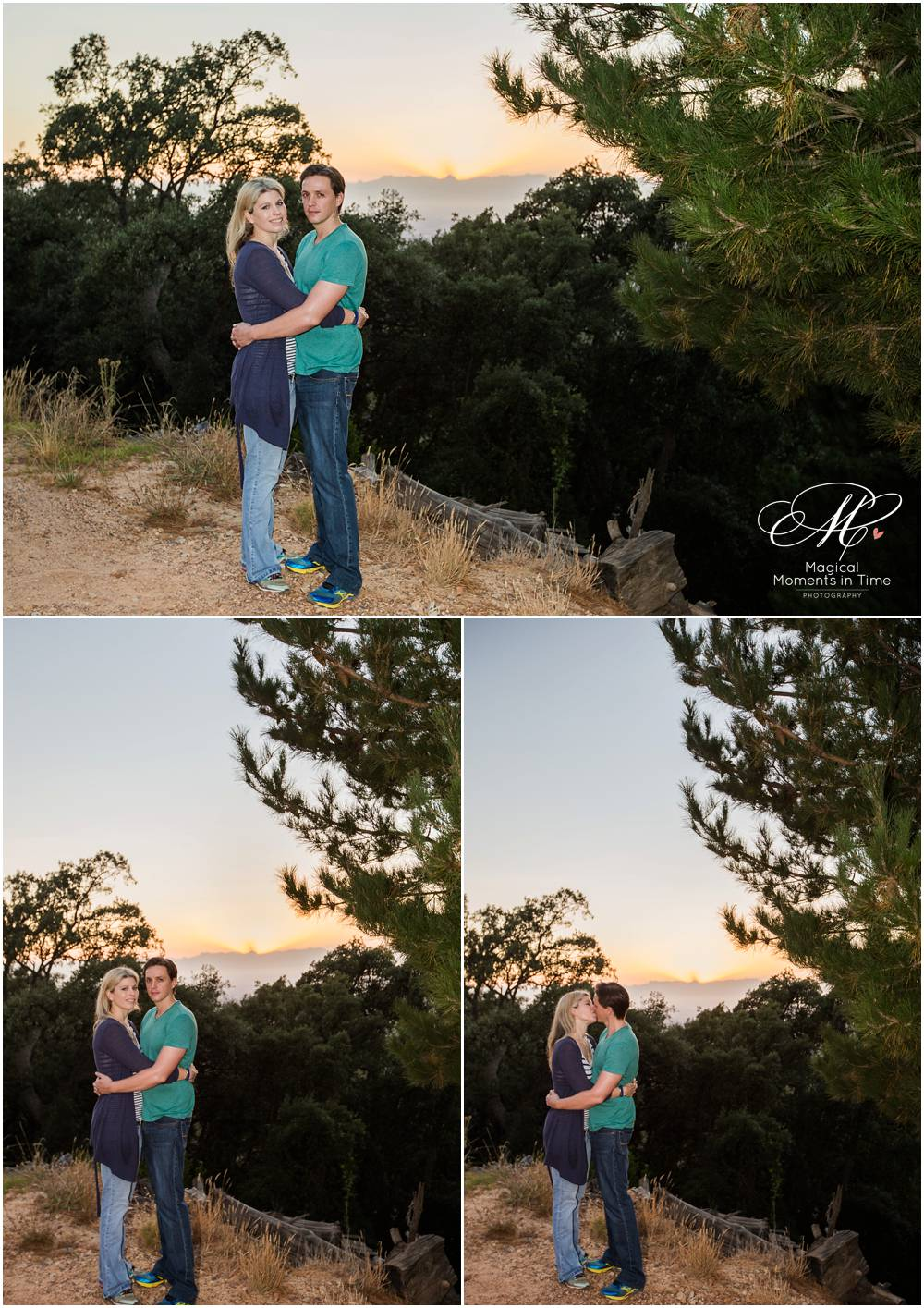 Sunrise engagement in the forest