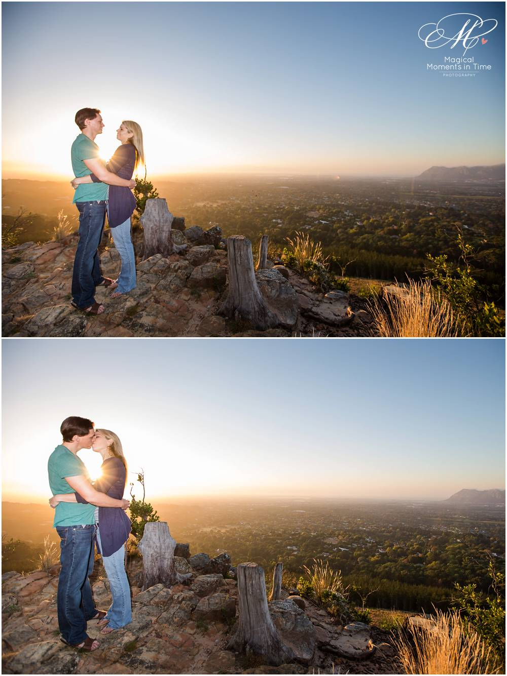 view of cape town during an engagement shoot