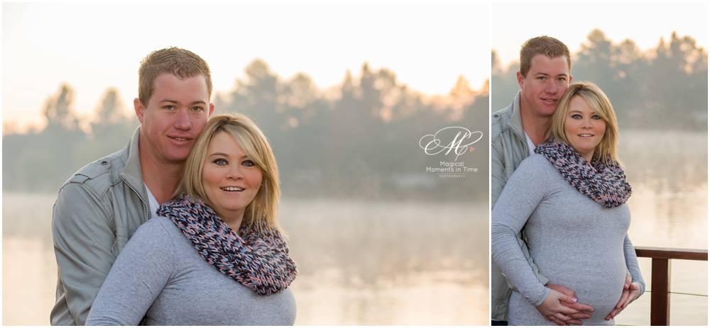 sunrise maternity photographs in winter