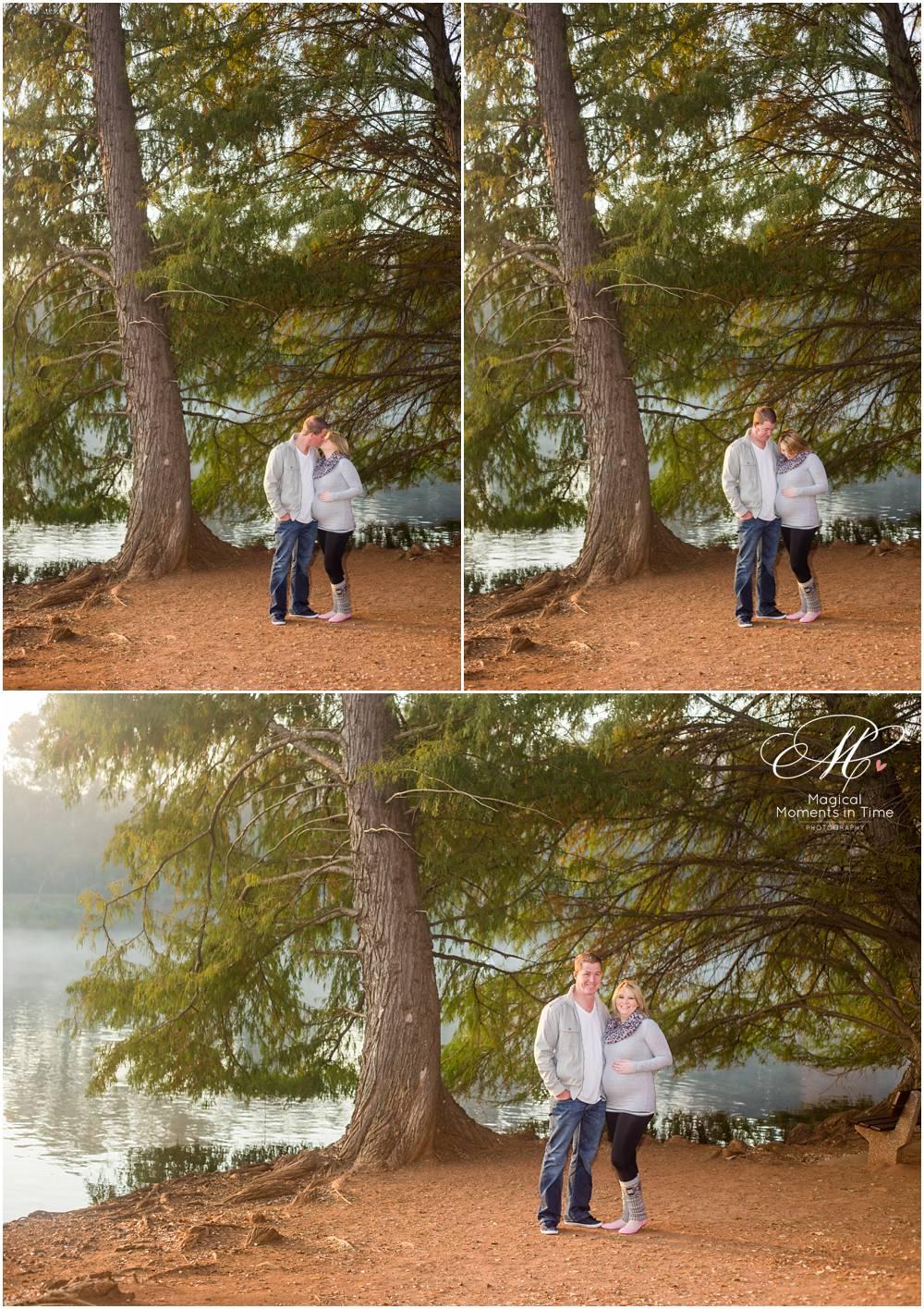 maternity shoot at lake